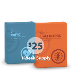 1 Week Supply of TruVision Weight Loss Combo truCONTROL